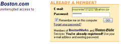 BugMeNot username for Boston.com