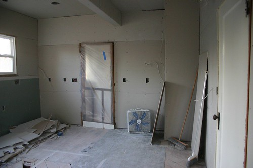 kitchen has more drywall