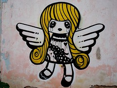 Norgin (server pics) Tags: street urban art girl wall angel painting graffiti arte heart crying athens greece grecia writers writer cry grce pintura  grafite  griekenland athnes        athensstreetart serverpics norgin