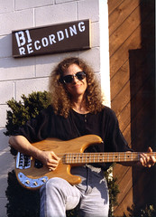 Carole King (aprilbaby) Tags: musician demo bass 80s singer eighties 1986 1980s recording songwriter recordingstudio electricbass caroleking
