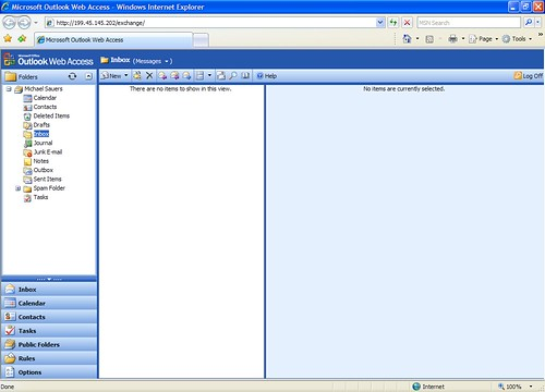 Outlook Web Access (IE 7)