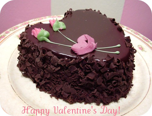 a Valentine's Day chocolate cake from Aaron!