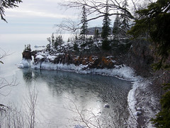 Tettegouche State Park (Allen's Photography) Tags: winter lake ice point superior shovel mn allensphotography