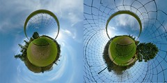 Is the glass half empty or half full? (Man) Tags: panorama green grass sport campus foot football 21 soccer lawn gimp 360 full explore handheld 360x180 spherical 360 hec planetoid hugin enblend teamsport i500 interestingness297 littleplanet manuperez planetoids groundsport