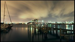 Lake Worth (Ben McLeod) Tags: longexposure bridge water night clouds boats boat dock florida 1755mmf28g lakeworth