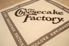 The Cheesecake Factoryロゴ入りナプキン