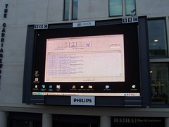 Big screen, Millennium Square, Leeds