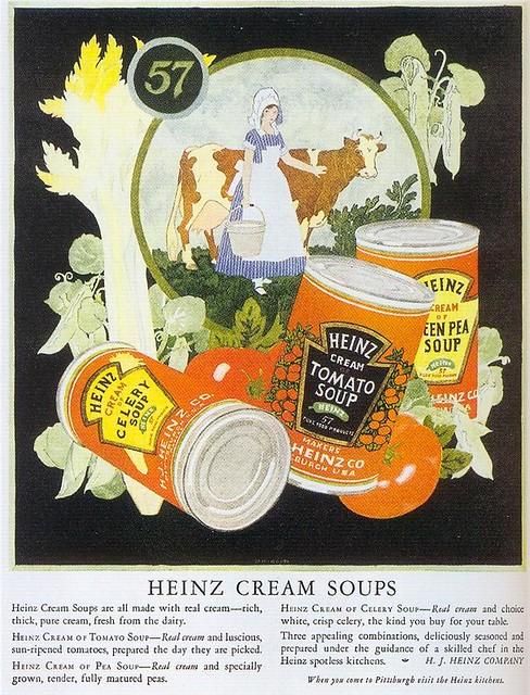 Heinz Cream Soups, 1924