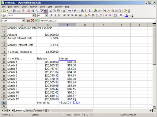an introduction to compound interest with spreadsheets part 2