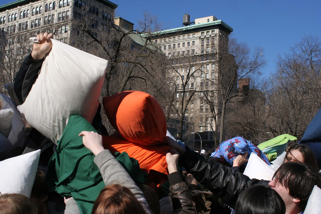 Pillowscapes - Pillow Fight NYC 2007