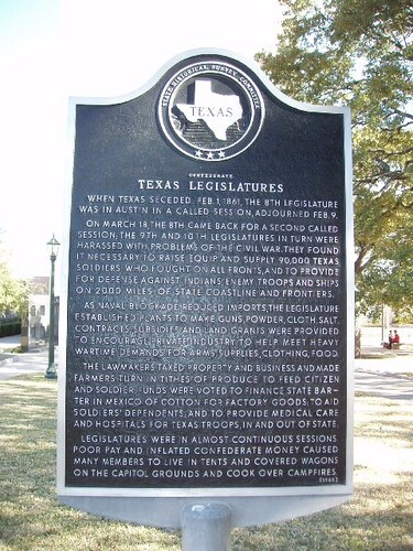 Confederate Texas Legislatures