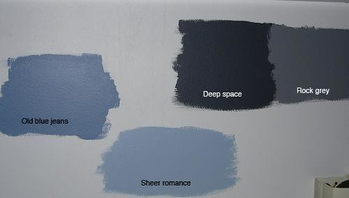Wallpapers Blue Grey Wall Paint