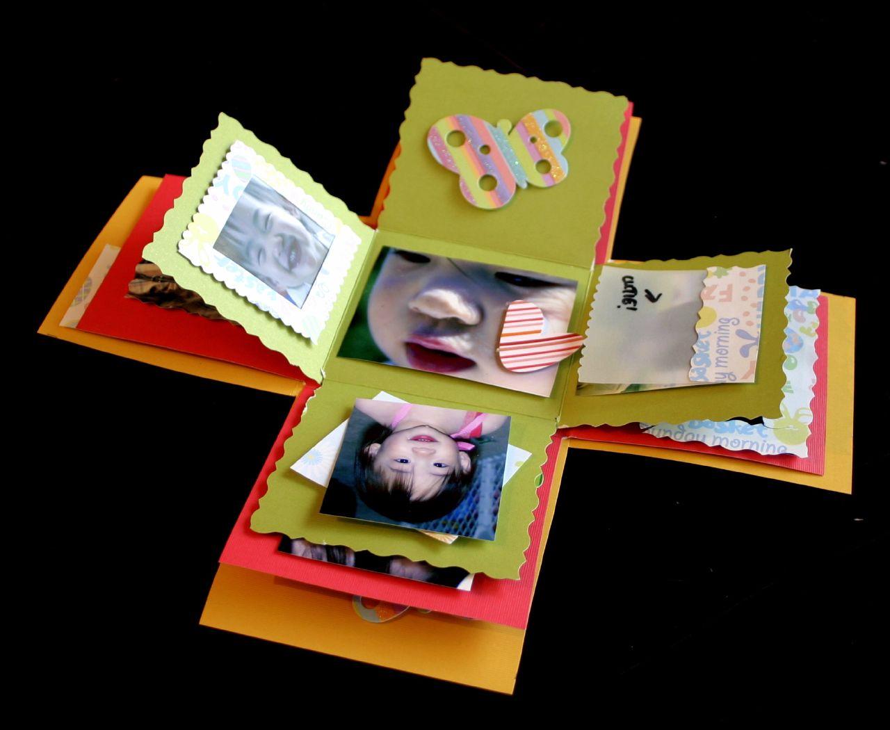 Folding mini scrapbook.
