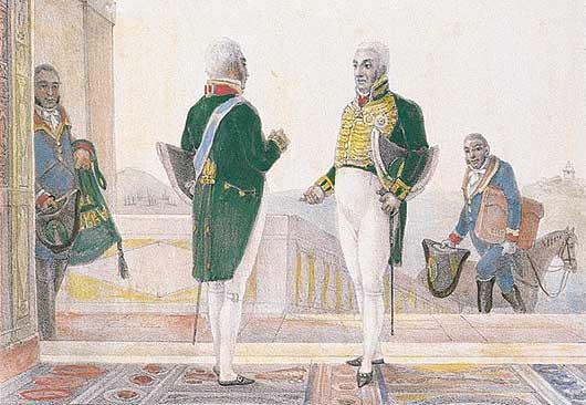 Vestimentas de Ministros e Secretários de Estado - Debret