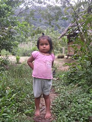 Kichwa child portrait indigenous community Amazon Tena Ecuador