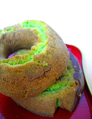 maccha donuts (aloalo*) Tags: food green japanese tea sweet donuts greentea maccha