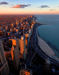 North Shore Sunset (James Neeley) Tags: sunset chicago architecture buildings illinois hancock lucisarts jamesneeley