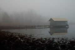 Morning Fog at the Boathouse.