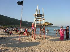 Tourelle de contrôle sur la plage