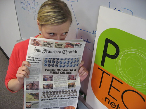 PodTech on front page of San Francisco Chronicle
