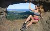 Jen and Pali Puka (Marvin Chandra) Tags: d600 24mm 2016 palilookout puka hiking hiker model hawaii oahu nuuanu trail mountain ridge