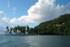 Marigot Bay in St Lucia.