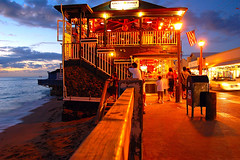 Cheese Burger in Paradise Lahaina (BBMaui) Tags: ocean street blue light sunset summer vacation people beach beautiful yellow topv111 cheese night clouds dinner mailbox lights hawaii restaurant evening sand topv333 paradise honeymoon purple burger americanflag maui exotic cheeseburger hamburger tropical usps lahaina nigh cheeseburgerinparadise aplusphoto