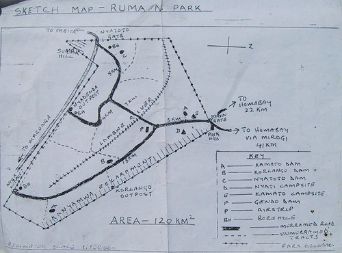 map of kenya provinces. Ruma NP Map