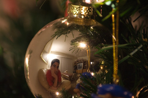 Self-Portrait in a Christmas Ornament - A Reflection of the Spirit of the Season