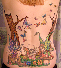 My Back (Kerrie Lynn Photography (Sugaree_GD)) Tags: tattoo butterflies fairy views fairies 10000 backpiece amybrown staceysharp