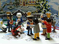 Police brutality against cultural symbol (fdecomite) Tags: christmas accident police explore brutality playmobil interestingness298 i500
