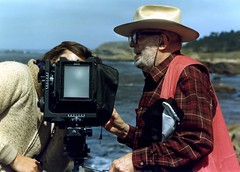 Ansel Adams at work 1982 (jody9) Tags: california portrait film mediumformat 1982 pointlobos anseladams pentax6x7 chrisrainier
