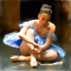 Beautiful Concentration (Pat McDonald) Tags: life pink blue red ballet music usa brown green art beautiful beauty yellow musicians america shoe us concentration dance ballerina shoes dancers pastel stage tie