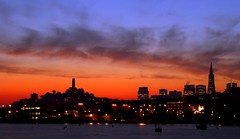 Day Break (A Sutanto) Tags: sf sanfrancisco california ca city morning sky urban usa water skyline america buildings dawn bay coittower silhoutte sfbay abigfave abigfav superaplus aplusphoto superhearts