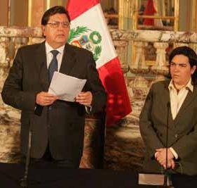 Presidente García y Ministra Zavala