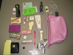 What's In My Bag? [Purse] (amanky) Tags: usa oregon pen interestingness wallet stamps battery gap 2006 headset explore businesscards invitation purse penny dime sample change qoop flashlight ribbon whatsinyourbag ricola airborne lipgloss whatsinmybag flashcards businesscard pennies hoodriver flashcard reciept adayinthelifeof dilo december22 checkbook ledflashlight whoppers softlips sparechange camerabattery handcream cameracase keytag pinkpurse pinkpen december2006 interestingness29 i500 gorillapod moocard silverribbon chapstik akeelahthebee earbudcover moocards minimoocards dilodec06 dilodec06bag december222006 explore24dec06 excedrinmigraine gappurse canoncameracase qoopbusinesscard qoopbusinesscards pinkgappurse december24200629