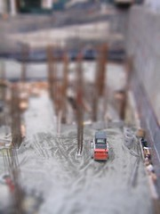 Bobcat Tiltshift (Littlepixel) Tags: vancouver photoshop miniature construction fake mini bobcat backhoe digger fts tiltshift toytown lensblur railwaylayout