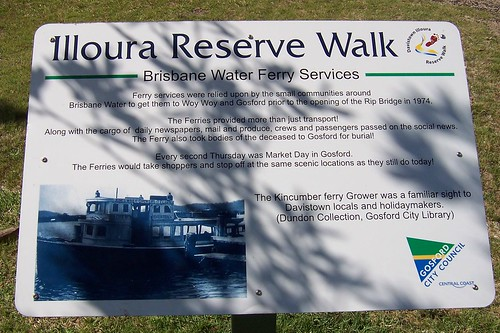 Illoura Reserve Walk (2) Brisbane Water Ferry Services