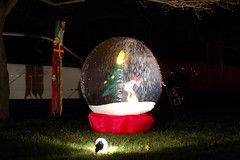 Snow globe on the lawn (lowlight168) Tags: christmas snow 50mm lights globe nikon dslr lowlight168