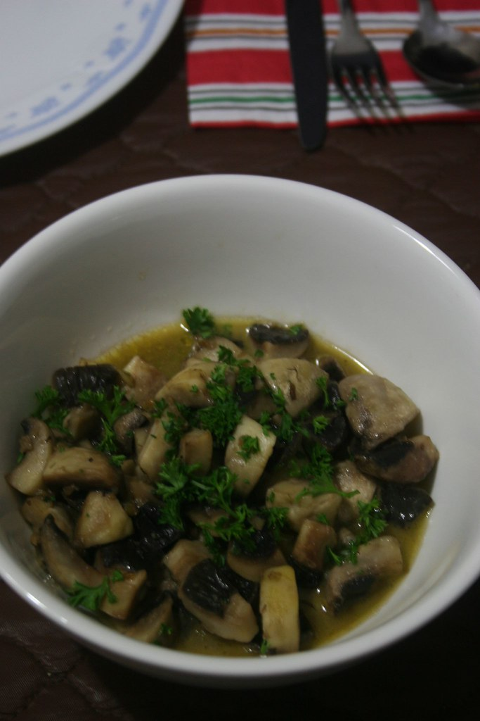 Garlic Mushrooms side