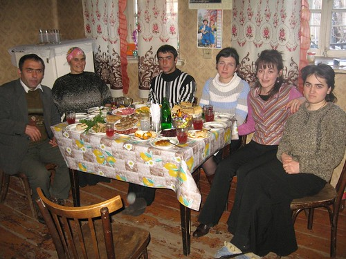 New Years feast in the Khuljanishvili household in Ude, Georgia