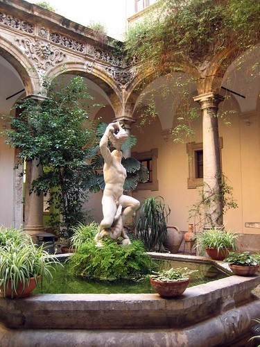 Courtyard of Palermo's Archaeological Museum