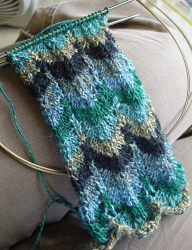 chevron sock in progress