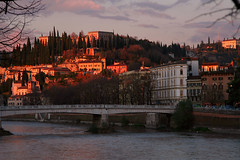 Pieces of Verona (van9b) Tags: sunset italy verona adige