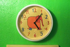 Marisa's homemade elephant clock