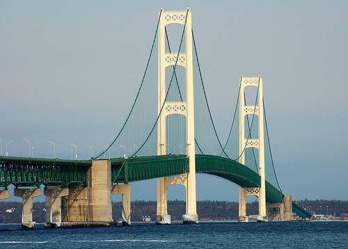 Mackinac Bridge by Marjorie O'Brien