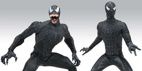 fig2 venom & spidey black toys