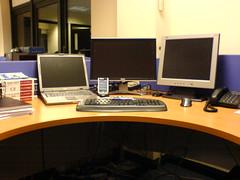 Three Screen Working
