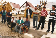Some of the Romanian workers