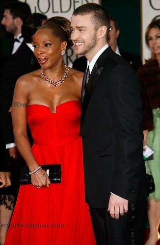 Justin Timberlake con Queen Lativa en los globos de oro
